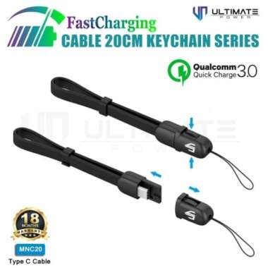 Promo Ultimate Power Kabel Powerbank iPhone Lightning 20cm Fast Keychain Murah