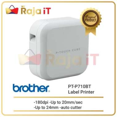 harga Unik BROTHER Printer Label PTouch Cube PT P710BT Portable Bluetooth P710 Berkualitas Blibli.com