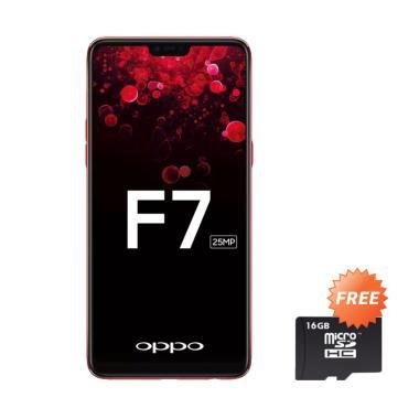OPPO F7 Pro Smartphone - Red [128GB/ 6GB] + Free MMc 16 GB