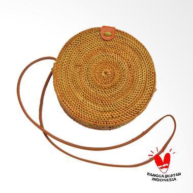 Alexanic Ate Bali Rotan Sling Bag Tas Wanita - Coklat