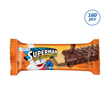 Super-Man Wafer Salut Cokelat Susu - 1 pack isi 20 pcs