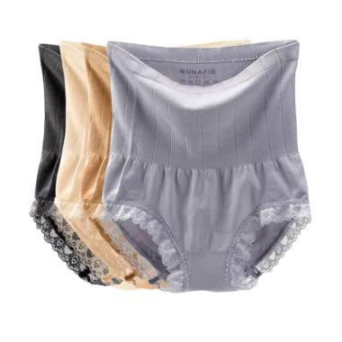 Munafie Slim Pants Celana Pelangsing Wanita - Multicolor [4 pcs]