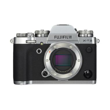 harga JKLENSA KAMERA Fujifilm XT3 / Fuji X-T3 Mirrorless Digital Camera Body Only Garansi Resmi Fujifilm Silver Blibli.com