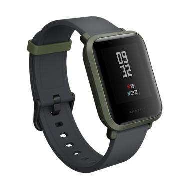Xiaomi Huami Amazfit BIP English Version Smartwatch - Green Black Garansi Resmi