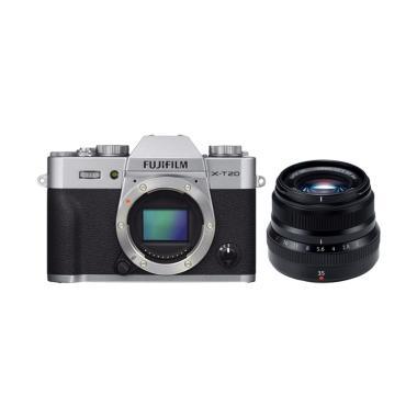 harga Fujifilm X-T20 Body Silver Kamera Mirrorless with XF 35mm F 1 4 Lensa Kamera + Free Instax SP 2 + Sandisk SDHC Extreme 32gb By Claim Fujishopidbali Blibli.com
