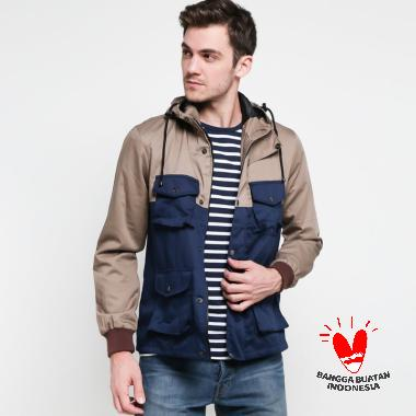 Grosirjaket Style Jacket Parka Pria - Navy