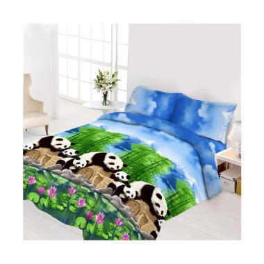 Vito Disperse Rumbai Panda Set Sprei dan Bedcover [King Size/ 180 x 200 cm]