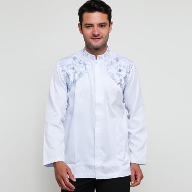 Batik Arjunaweda Alkmaar Baju Koko Pria - Biru [97062028]