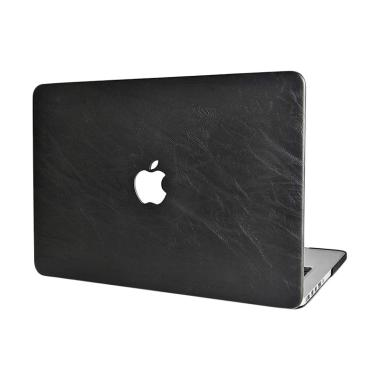 Cooltech Black Leather Shell Cover Hardcase Casing for Macbook Air 11.6 Inch
