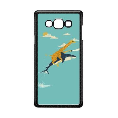 harga Acc Hp Black Friday offer Giraffe Riding Shark E1379 Custome Casing for Samsung Galaxy A7 2015 Blibli.com