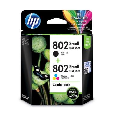 HP 802 Small Ink Cartridge - Black & Color [Combo/ 2 Pcs]