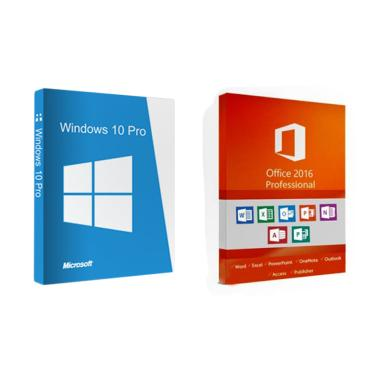 harga Microsoft Windows 10 Pro & Office 2016 Profesional Plus Software Lisensi [Original/ 32/ 64bit] Blibli.com
