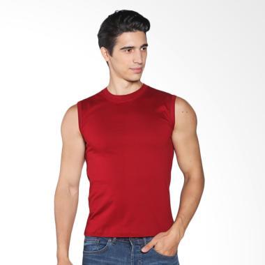 Vm Kaos Polos Singlet - Merah Maroon