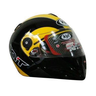 KYT X-Rocket Fullface Helm - Black Yellow