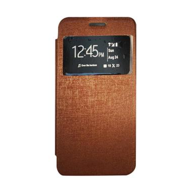 Gea Flip Cover Casing for Oppo R1201- Coklat