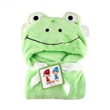 MOMO Carter 3D Frog Selimut Bayi Topi - Green