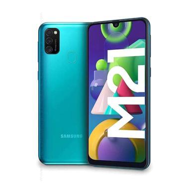 Samsung Galaxy M21 Smartphone [4 GB/ 64 GB/ Garansi SEIN Resmi] GREEN