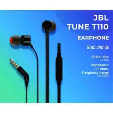 harga JBL In-Ear Headphone T110 hitam Blibli.com