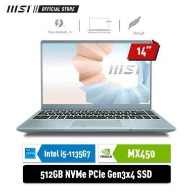MSI Notebook Modern 14 B11SB i5 1135G1 8GB 512GB MX450 2GB 14inch W10 Blue