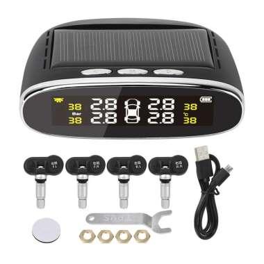 harga Solar Powered Universal Auto SUV Vehicle Tire Pressure Temperature Monitor Tyre Detection System Real Time LCD Display Internal Sensor Blibli.com