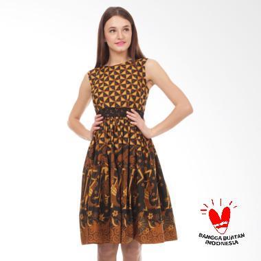 Benangsari Wulan Dress Batik - Cokelat