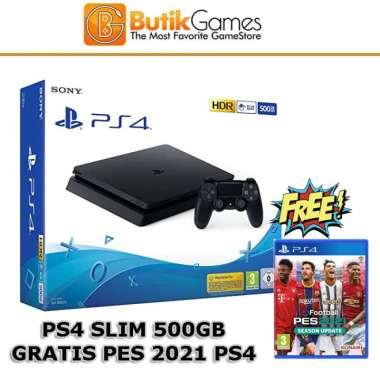 harga PS4 Slim 500GB Sony Playstation 4 Slim 500 GB Bonus PES 2021 Blibli.com