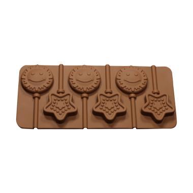 Cetakan Jelly Sun & Star Cetakan Coklat or Permen Lolipop - Coklat