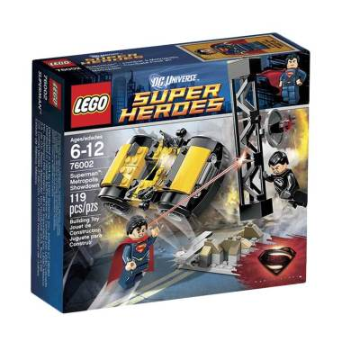 LEGO 76002 Superheroes Superman Metropolis Showdown Mainan Anak