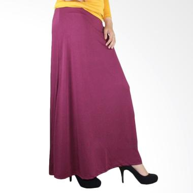 Syifa Collection Jersey Rok - Merah Tua