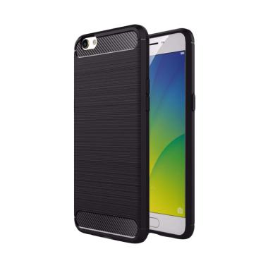 Viseaon Carbon Brushed TPU Rubber S ... ack + Free Tempered Glass