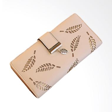Aamour Leaf Wallet Dompet Wanita - Apricot