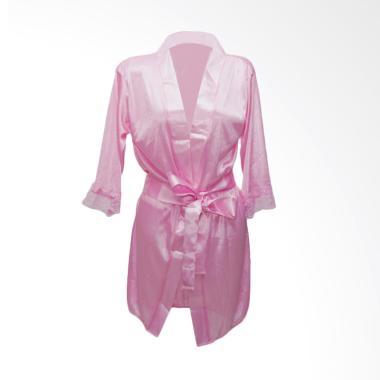 Deoclaus Lingerie Kimono KS1 Fashion Baju Tidur Sexy - Pink