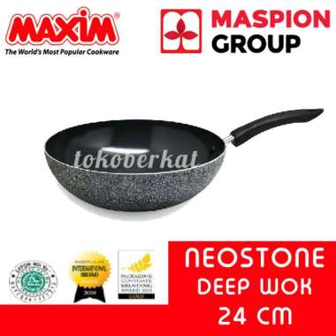 New Maxim Neostone Deep Wok Anti Lengket 24 Cm Limited