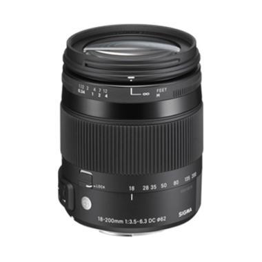 Sigma 18-200mm f/3.5-6.3 DC Macro OS HSM Lensa Kamera Canon