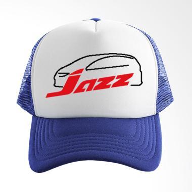 RLUCK8888 Honda Jazz Trucker Topi - Blue White 4f9ab7b61c