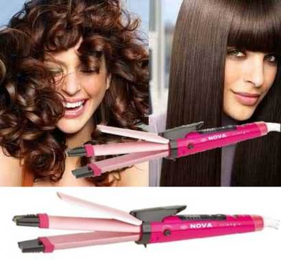 BERGARANSI Nova 2 in 1 and 5 Level Heat Hair Straightener