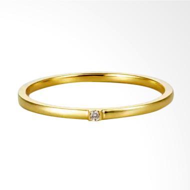 Tiaria Joy Ring Perhiasan Cincin Emas 9K with Zircon