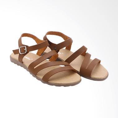 Dr.Kevin 26106 Women Leather Sandals Wanita - Coklat