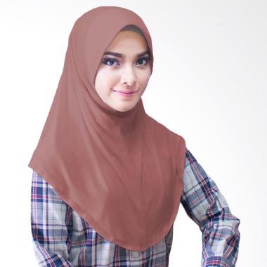 Milyarda Hijab Bergo Jersey Jilbab Instan - Coklat