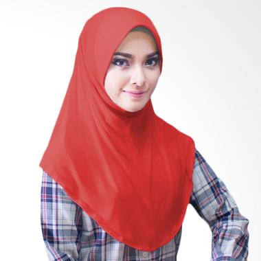Milyarda Hijab Bergo Jersey Jilbab Instan - Merah