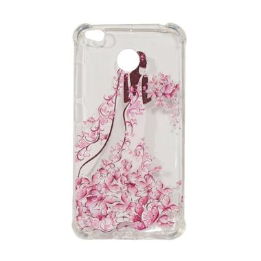 Winner Anti Crack Silicone Casing for Xiaomi Redmi 4X - Pink Gown