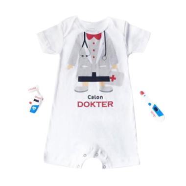 J Baby 0275 Romper Calon Dokter Boy Baju Jumpsuit Anak - Putih