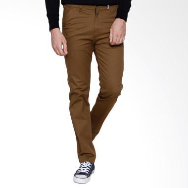 Oliveinch Slim Tapered Basic Long Chino Pants - Mocca
