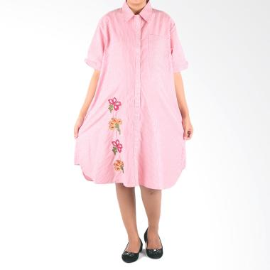HMILL D1314 Dress Hamil & Menyusui Jumbo - Pink