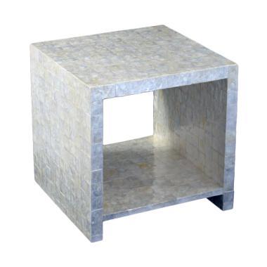 De Erniest Meja Sofa Una Cube Putih