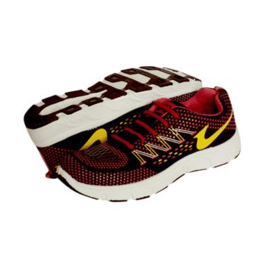 Recordshoes Athena Running Shoes Unisex - Black Red