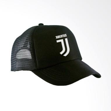 RLUCK8888 Juventus Trucker Topi - Hitam