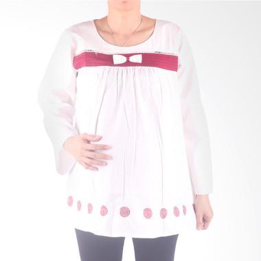 Hmill B1532 Blus Baju Hamil Putih