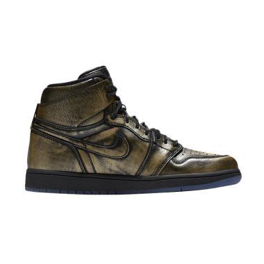 Nike Men Air Jordan 1 Retro High Wi ... Metalic Gold [AA2887-035]