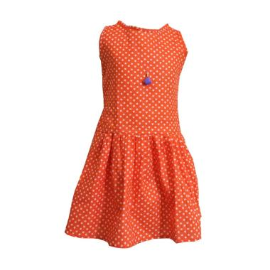 Kirana Kids Wear DR02E Bella Dress Anak - Orange